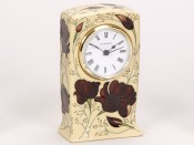 Moorcroft Pottery Chocolate Cosmos Clock CL1