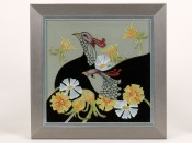 Moorcroft Pottery Courting Birds Plaque