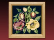 Moorcroft Pottery  Ashwood Lenten Rose Plaque