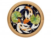 Moorcroft Pottery Singapore Plaque PLQ18